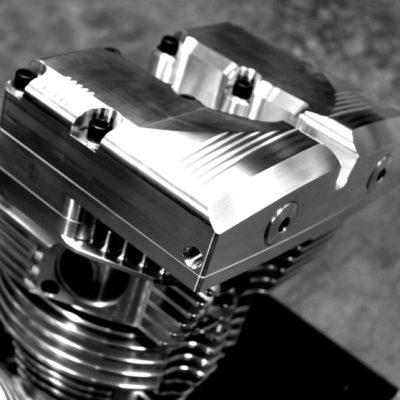 """Shovelhead """"VELOCITY"""" Billet Aluminum Top End components"""