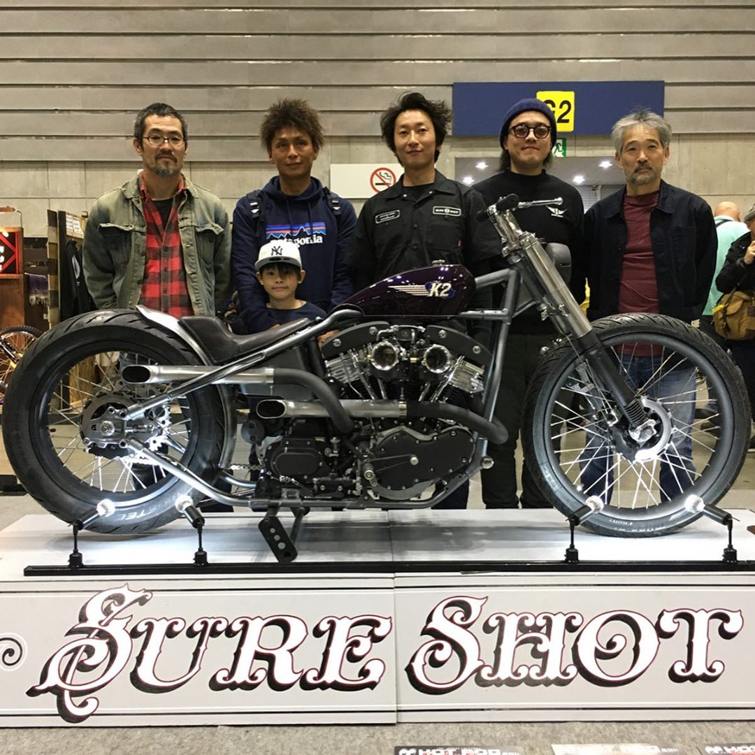 Mooneyes Show Shovelhead by Sureshot Japan with Speed And Science heads
